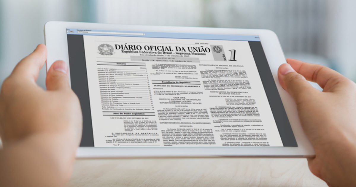 Diário Oficial passa a ser exclusivamente digital