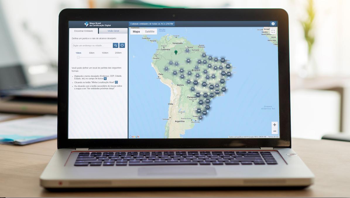 Acesse o Mapa da Certificação Digital ICP-Brasil
